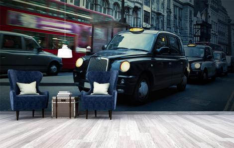 Fototapeten Taxis in London