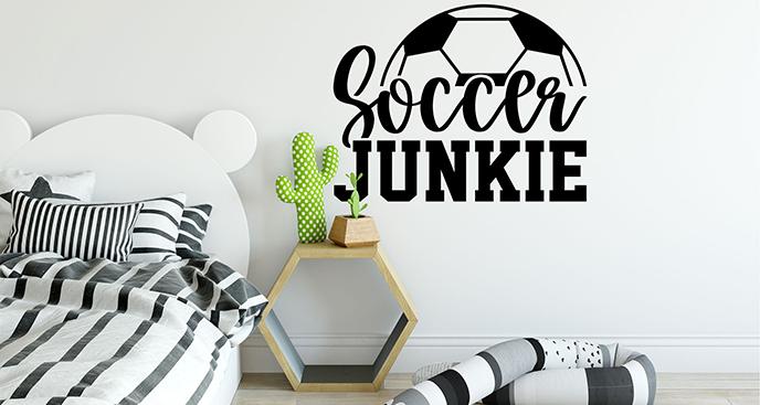 Fußball-Sticker mit Aufschrift