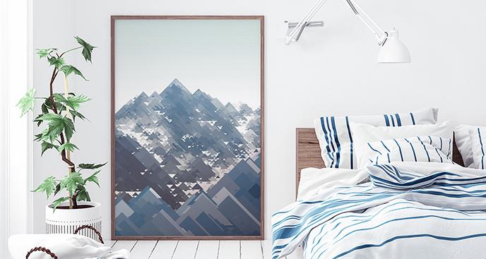 Geometrisches Poster Berge
