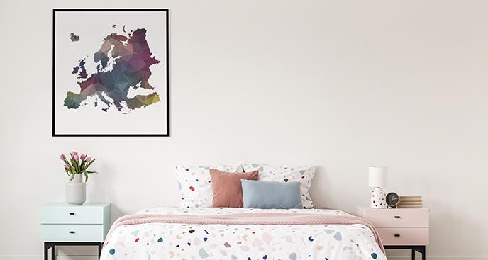 Geometrisches Poster Europa