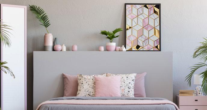 Geometrisches Poster für Schlafzimmer