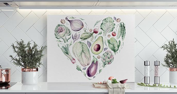 Grünes Bild für die Küche