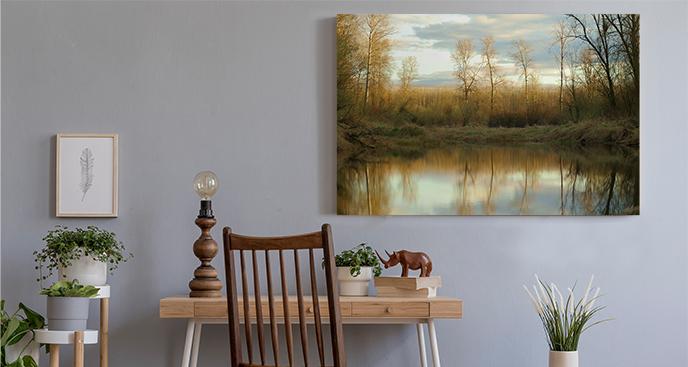 Herbstliche Landschaftsmalerei