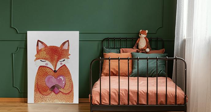 Kinderbild mit einem roten Fuchs