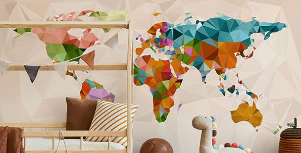Kinderfototapete Weltkarte