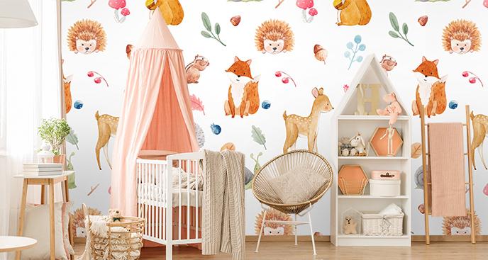 Kinderfototapeten mit Tiermotiven