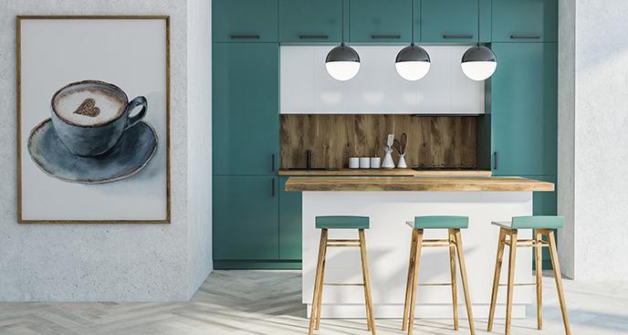 Küchenposter mit einer Tasse