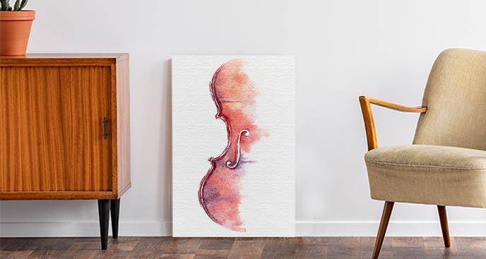 Künstlerisches Bild mit Geige