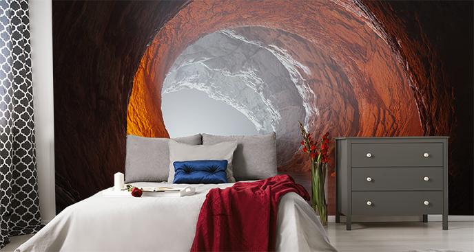 Leuchtende Fototapete Tunnel