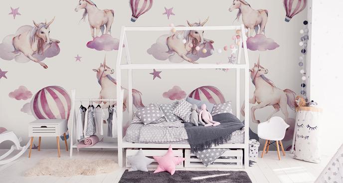 Märchenfototapete für Mädchenzimmer