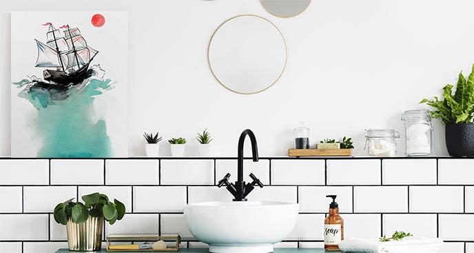 Maritimes Bild fürs Badezimmer