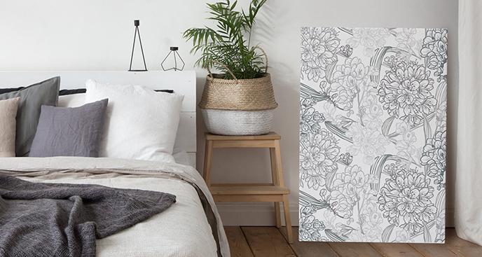 Minimalistisches Bild fürs Schlafzimmer