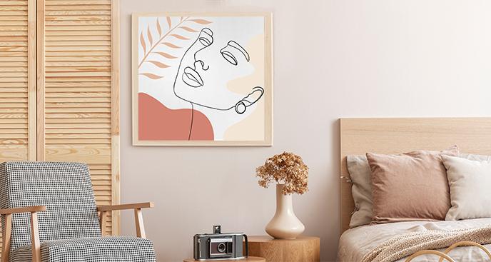 Minimalistisches Plakat mit dem Porträt