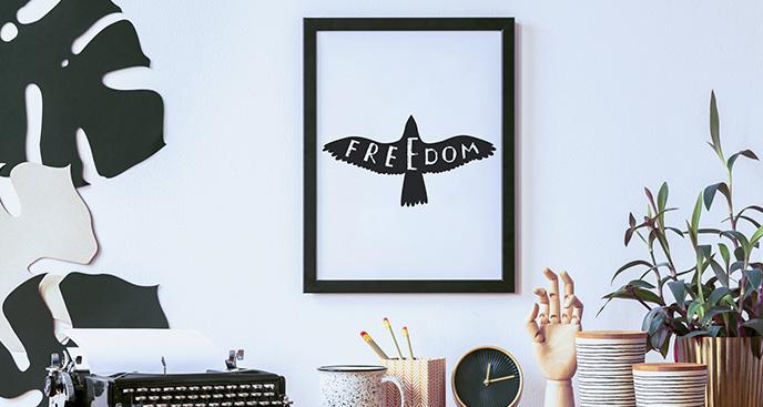"""Minimalistisches Poster """"Freiheit"""""""