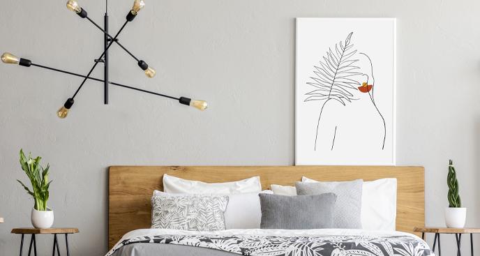 Minimalistisches Poster für Schlafzimmer