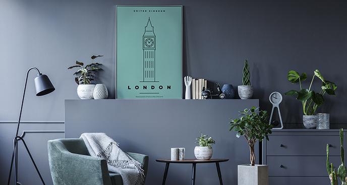 Minimalistisches Poster London