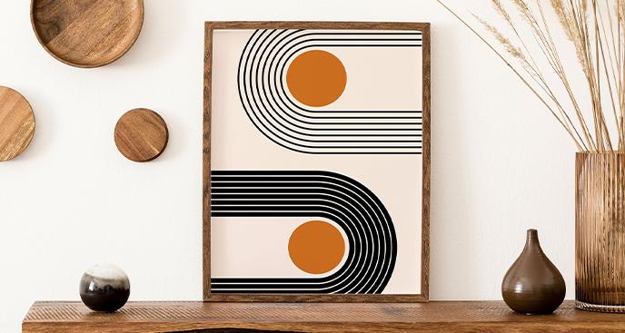 Minimalistisches Poster mit Geometrie