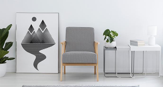 Minimalistisches Poster mit Natur