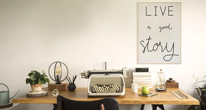 Minimalistisches Poster mit Slogan