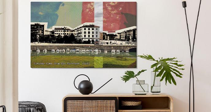 Modernes Bild mit Blick auf Livorno