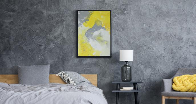 Modernes Schlafzimmerplakat