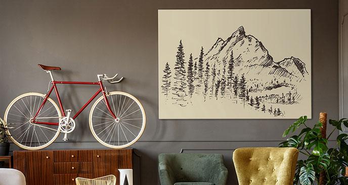 Monochromatisches Bild Berge