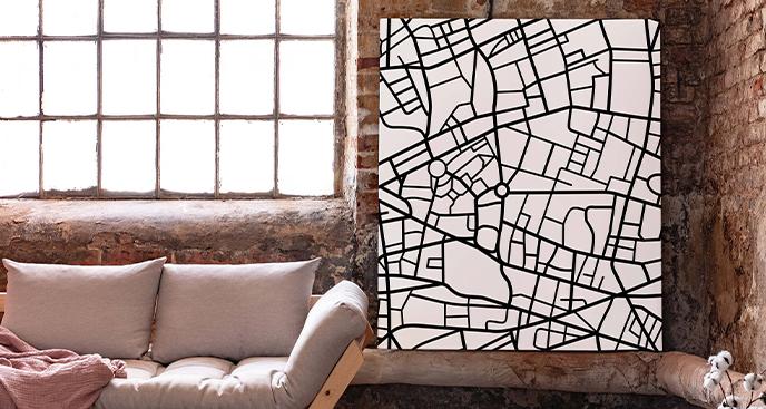 Monochromatisches Stadtbild