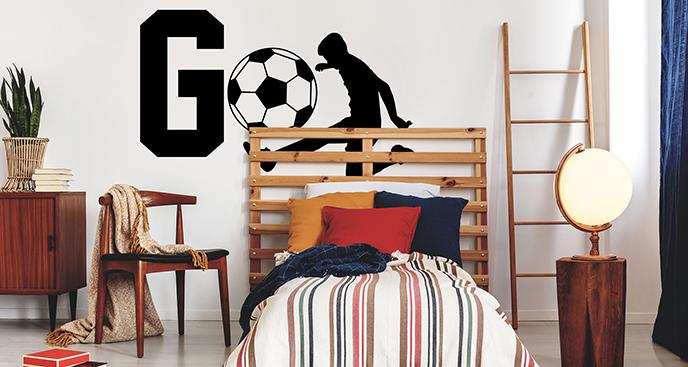 "Monochromer Sticker ""Go Soccer"""