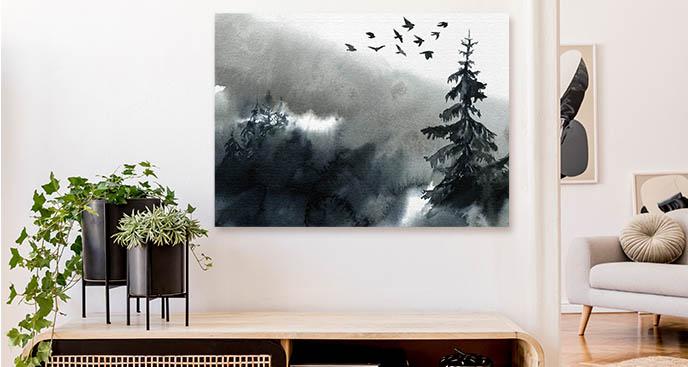 Monochromes Bild Baum