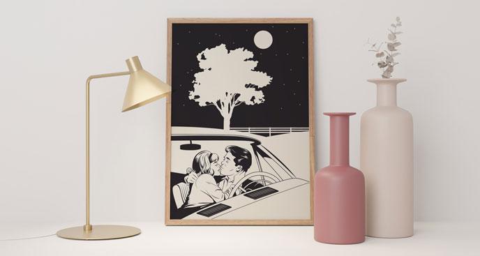 Monochromes Poster Retro