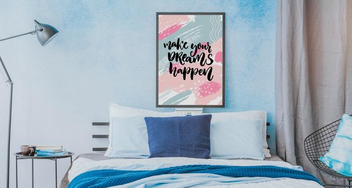 Motivationsposter für Schlafzimmer