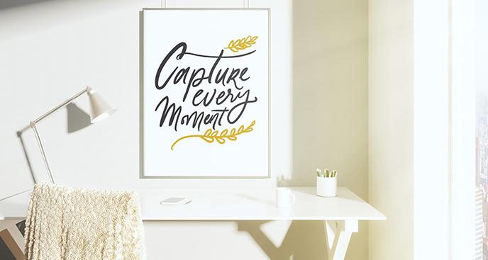 Motivierendes Poster fürs Wohnzimmer