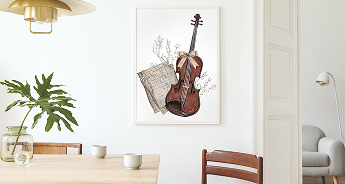 Musik-Poster fürs Esszimmer