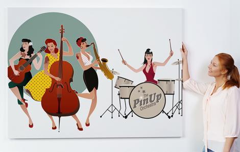 Musik poster mit Band