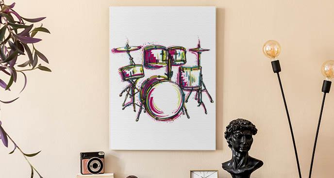 Musisches Bild mit Schlagzeug