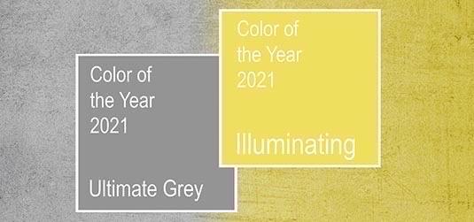 Farben des Jahres 2021 Pantone. Wie kann man sie in Innenräume einfügen?