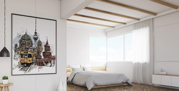 Plakat im Berliner Schlafzimmer