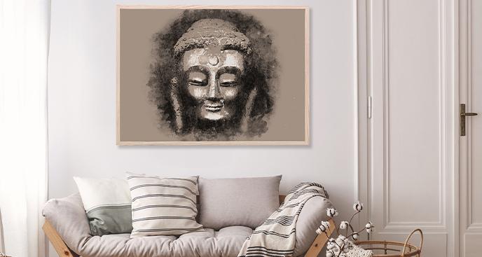 Plakat im buddhistischen Stil