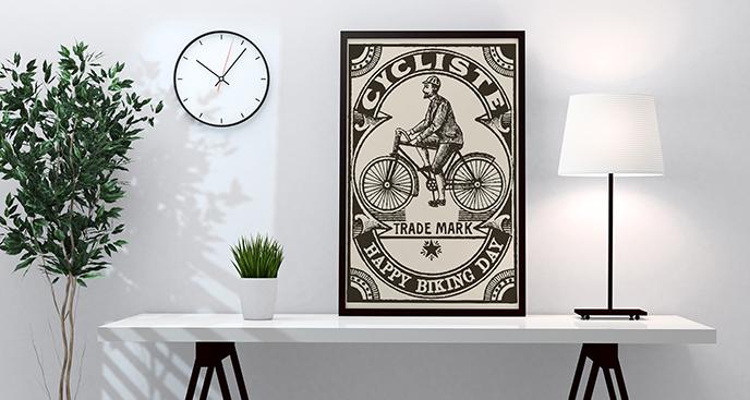 Plakat mit einem Radfahrer