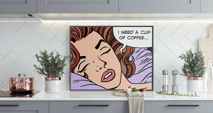 Pop-Art-Poster für die Küche