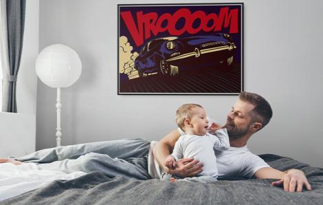 Pop-Art-Poster mit Auto