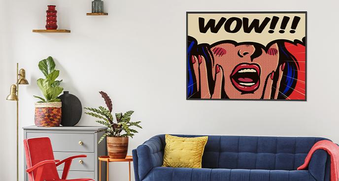 Pop-Art-Poster mit einer Frau