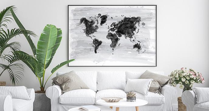 Poster Aquarell-Welt
