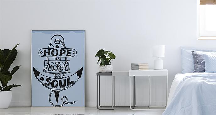Poster Aufschrift im Anker