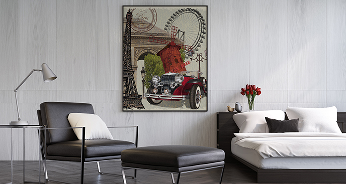Poster Auto in Paris