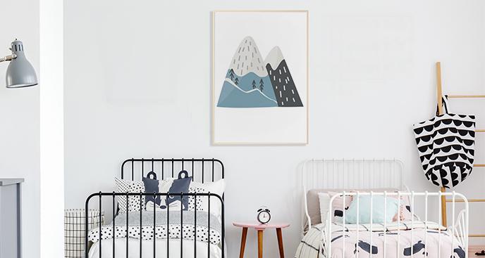 Poster Berge für das Kinderzimmer