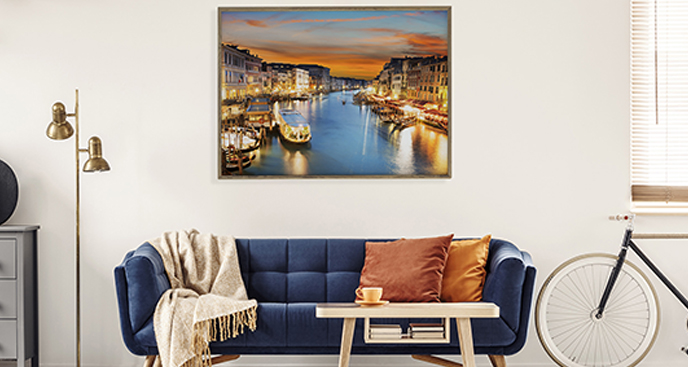 Poster Canal Grande für das Wohnzimmer
