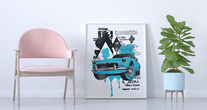 Poster Fahrzeug fürs Wohnzimmer