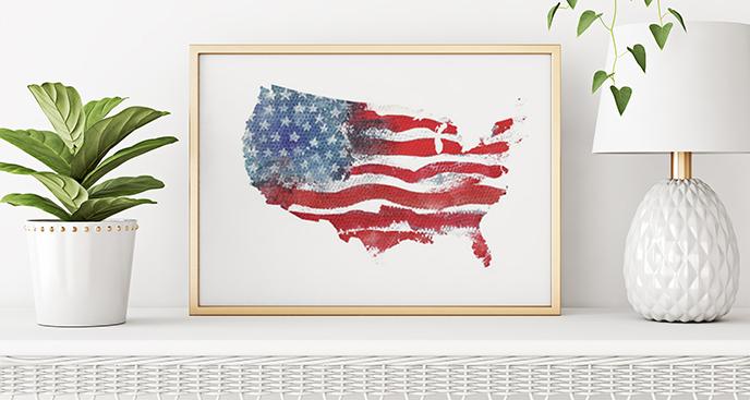 Poster Flagge der Vereinigten Staaten