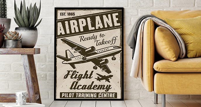 Poster Flugzeug Vintage